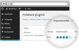 WordPress - instalace pluginů
